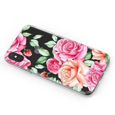 Lopard iPhone Xs Max Kılıf Silikon Arka Koruma Kapak Güllerin İçinden Desenli Renkli